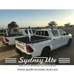 Toyota Hilux 2015on SR, J Deck, Trade Rear Ladder Rack, Polished sydney ute accessories