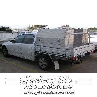 Holden Crewman Dual Cab Tray with Rear Ladder Rack and Toolboxes fitted.  sc 1 st  Sydney Ute Accessories & Holden Crewman Dual Cab tray with Rear Ladder rack and Toolboxes ...