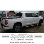 T15 Tundra Custom Dual Cab Tonneau Cover, Bungees with Ladder Racks Sydney Ute Accessories