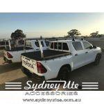 Toyota Hilux 2015on SR, J Deck, Trade Rear Ladder Rack, Polished sydney ute accessories